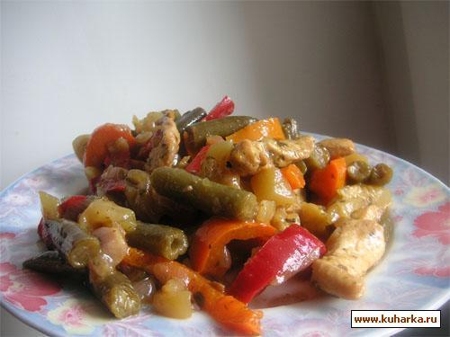 Рецепт Овощи с курицей в азиатском стиле