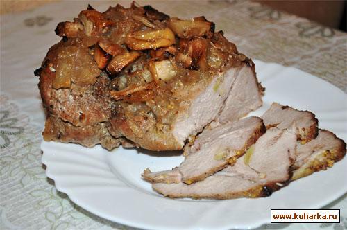 Рецепт Запеченная свинина с мочеными яблоками в пряной заливке