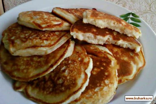 Рецепт Овсяные оладушки с изюмом