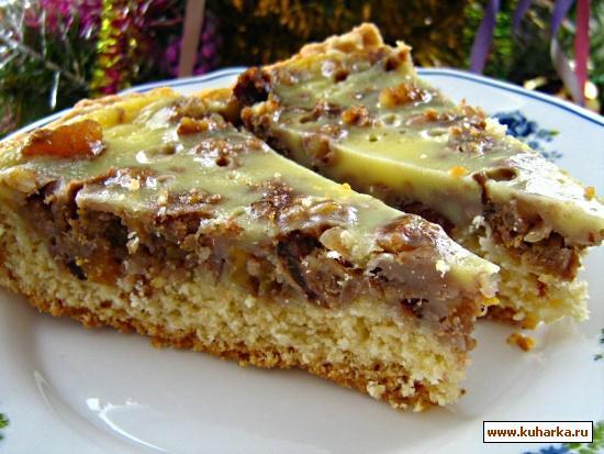 Рецепт Вкусный пирог с сухофруктами