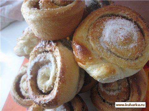 Рецепт Булочки с орехами и корицей