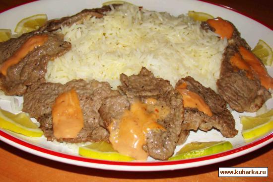 Рецепт Телятина с кизиловым соусом