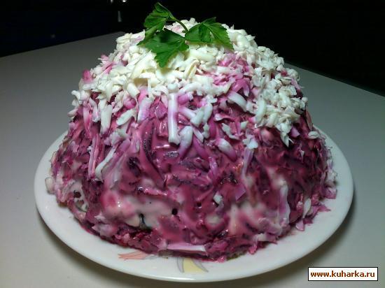 """Рецепт Салат """"Венгерский торт"""""""