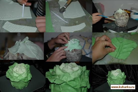 Капуста как сделать из бумаги