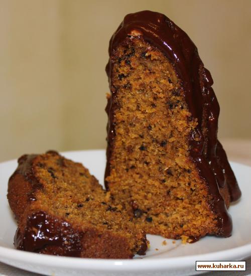 Рецепт Тыквенный кекс с шоколадной глазурью