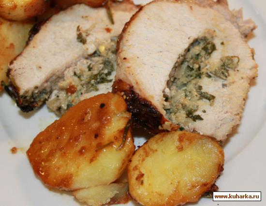 Рецепт Корейка, запеченная с ароматным маслом и овощами