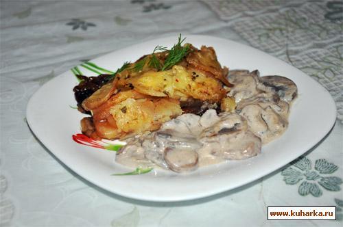 Рецепт Запеченный картофель с красным луком