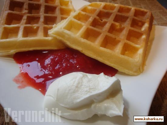 Рецепт BELGIAN WAFFLE (Бельгийские вафли)