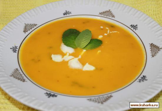 Рецепт Апельсиново-морковный суп с мятой