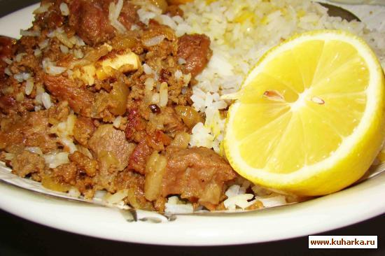 Рецепт Плов в горшочке с кусочками баранины и фаршем из телятины