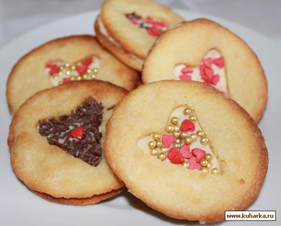 Печенье сердце рецепт с фото