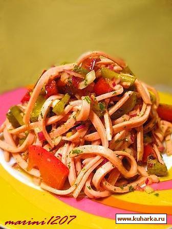 Рецепт Салат Колбасный (Fleischsalat)