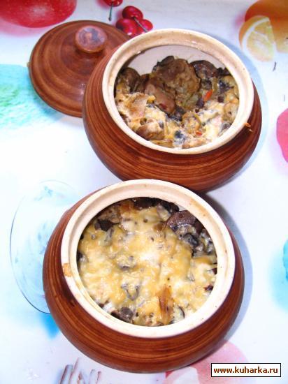 Рецепт Горшочки с квашеной капустой