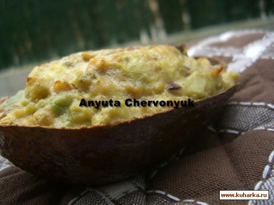 Рецепт Авокадо начинённое солёной треской (Aguacate relleno con bacalao)