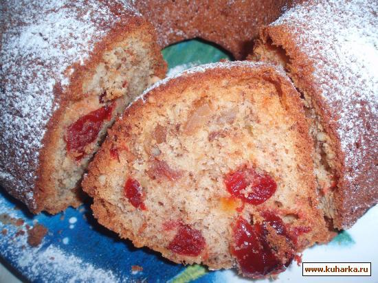 Рецепт Английский кекс с цукатами и орехами