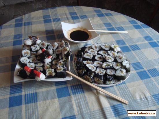 Рецепт Суши Унаги Маки