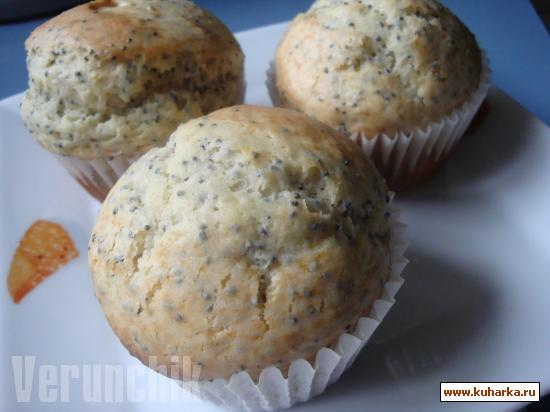 Рецепт Almond-Poppy Seed Muffins (Миндально-маковые маффины)