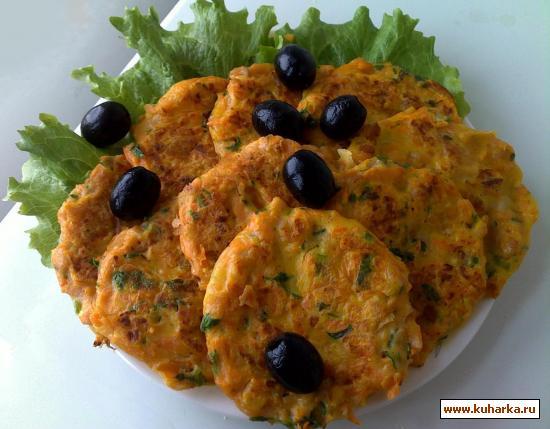 Рецепт Оладьи из тыквы с колбасой