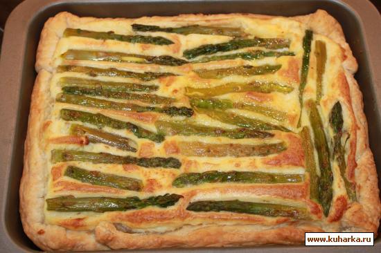 Рецепт Хрустящий пирог со спаржей и картофелем от Дж.Оливера