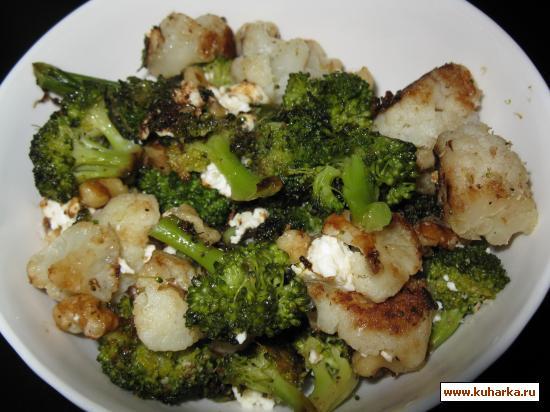 Рецепт Жареная брокколи и цветная капуста