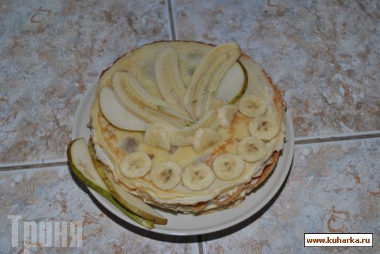 Рецепт Блинный торт с бананами