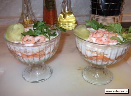 """Рецепт Салат """"Вкус моря"""""""