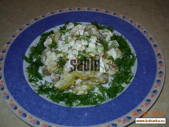 Рецепт Салат из кабачков с йогуртом и сметаной от Бени Саяда
