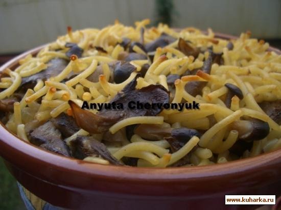 Рецепт Грибное фидеуа (Fideua de setas)