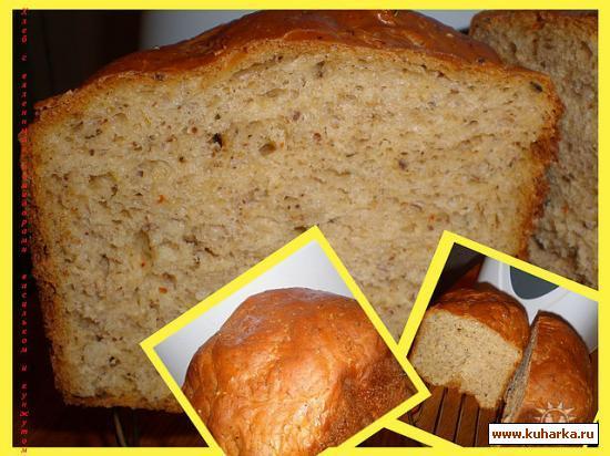 Рецепт Хлеб с вяленными помидорами и базиликом