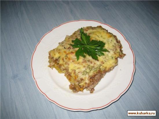 Рецепт Мясная запеканка с баклажанами и гречкой