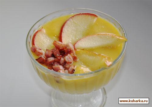 Рецепт Тыквенный суп-пюре с яблоками и беконом