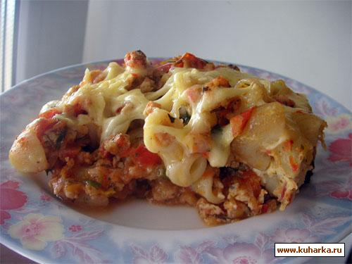 Рецепт Макаронная запеканка в мясном соусе