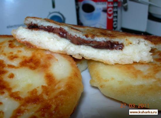Рецепт Сырники с начинкой и без