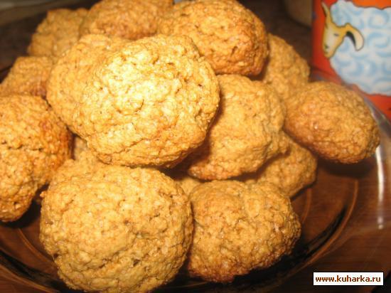 Рецепт Овсяное печенье ( без муки).