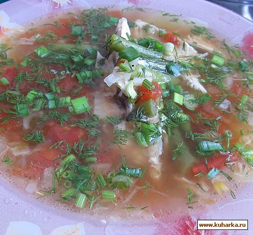 Рецепт Куриный суп со стручковой фасолью