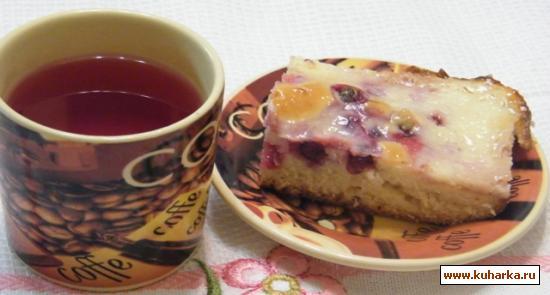 """Рецепт Заливной ягодный пирог """"Любимец публики"""""""