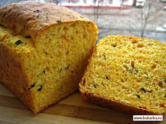 Рецепт Грандиозный тыквенный хлеб с зеленым луком