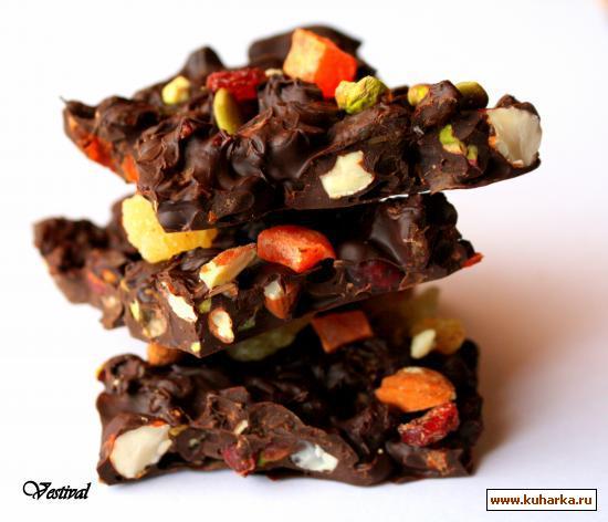 Рецепт Шоколадные плитки от Джейми Оливера