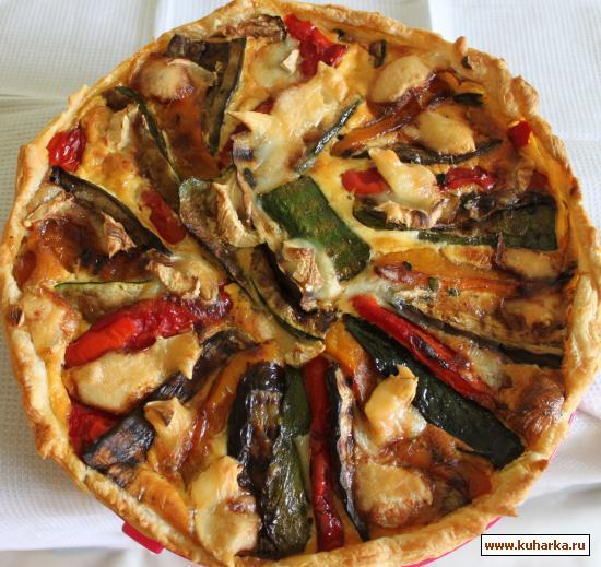 Рецепт Тарт с овощами на гриле