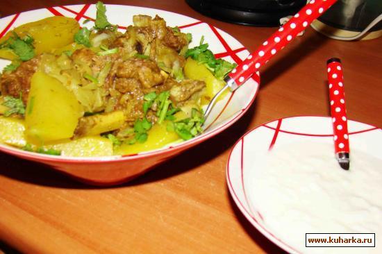 Рецепт Телятина, томленая с картофелью