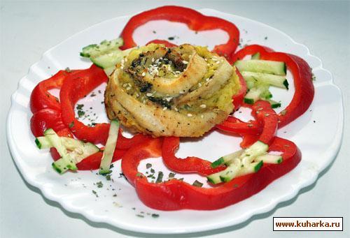 Рецепт Картофельно-рыбные розочки