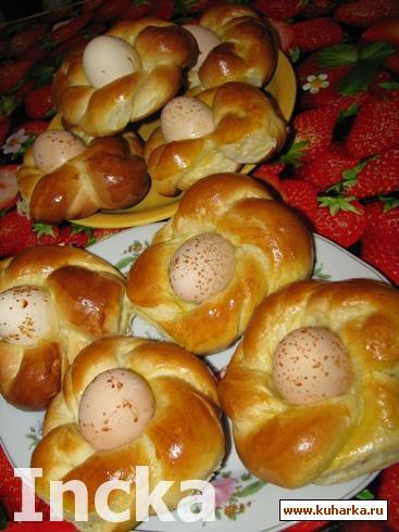 Рецепт Гнездышки для пасхальных яиц