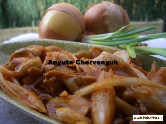 Рецепт Сельдь с грибами (Sledzie z grzybami)