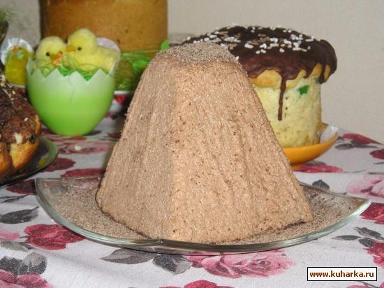 Рецепт Паска шоколадная