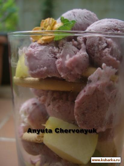 Рецепт Яблочно-ежевичное мороженое (Semifrio de manzana y mora)