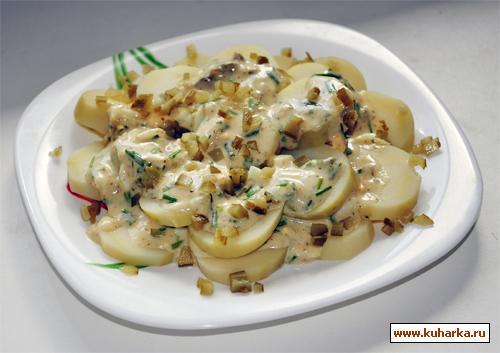Рецепт Картофельный салат под соусом Провансаль