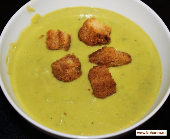 Рецепт Крем-суп с зеленым горошком и маскарпоне