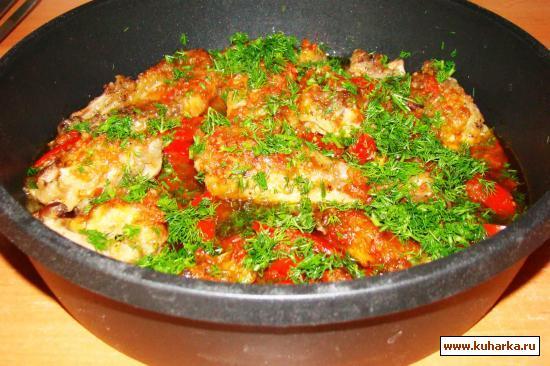 Рецепт Курица с красным перцем и помидорами