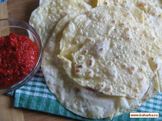 Рецепт Тортильяс - мексиканские лепёшки.