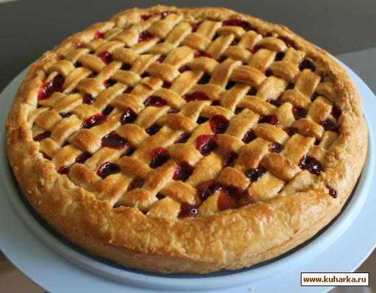 Рецепт Пирог из яблок и клюквы от Le Cordon Bleu